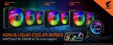Die AORUS LIQUID COOLER Serie erm&ouml;glicht 5,2GHz Taktung bei allen Kernen des Core<sup>&trade;</sup> i9 10900K