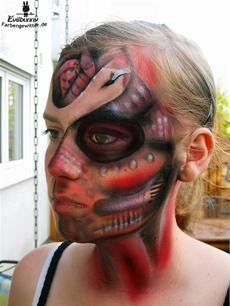 Facepainting Cyborg - Model: Luisa