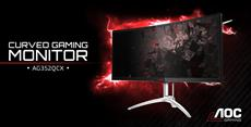 "Immersion neu definiert: AOC AGON 35""-UltraWide-Curved- Gaming-Monitor mit NVIDIA G-SYNC"