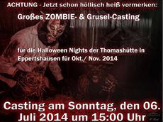 1. Offenes Casting für die Halloween Nights 2014!