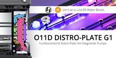 BRANDNEU bei Caseking - Lian Li O11D Distro-Plate G1 mit integrierter Pumpe