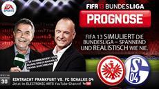 Die FIFA 13 Bundesliga Prognose: Eintracht Frankfurt empfängt Schalke 04 zum Duell um Europa