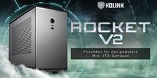 Kolink Rocket v2 Mini-ITX-Gehäuse aus Aluminum - Innovatives Design und hochwertige Materialien für große Leistung auf kleinem Raum