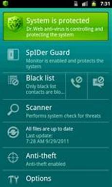 Mehr als 4 Millionen Anwender nutzen Dr. Web Antivirus light für Android