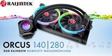 NEUHEIT bei Caseking - Die Raijintek Orcus RGB Rainbow Komplett-Wasserkühlung mit adressierbarer RGB-Beleuchtung
