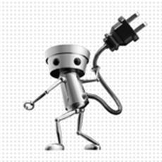 Stecker rein, einschalten und ab geht der Spaß-Roboter