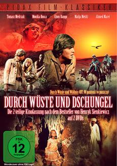 """Pidax film media Ltd. am 17.02.2015 den 2-teiligen Abenteuerfilm """"Durch Wüste und Dschungel"""" (""""Durch Wüste und Wildnis"""") nach dem Roman von Henryk Sienkiewicz in der Reihe Film-Klassiker veröffentlicht."""